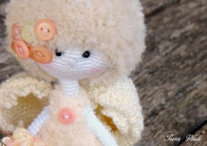 Crochet toy - Peach angel