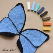 Крылья бабочки Морфо